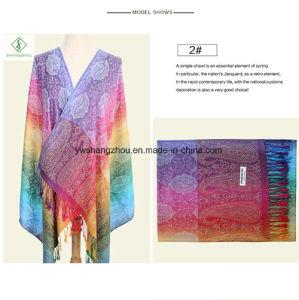 Hot Sale Fashion Lady Scarf Nepal Style Pashmina jacquard Shawl Wholesale pictures & photos