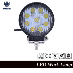 Hotsale 4X4 Offroad 27W LED Work Lamp with Flood or Spot Beam pictures & photos