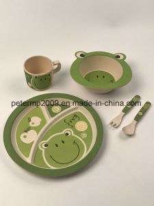 100% Natural Bamboo Fiber Kids Dinner Set pictures & photos