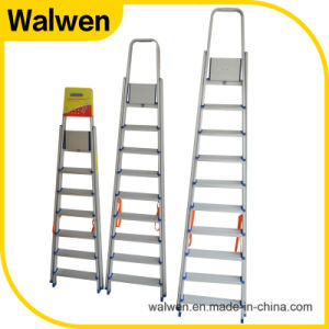 Top Quality New Style Foldable Aluminum Household Step Ladder pictures & photos