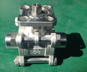 Welding 3PC Ball Valve with High Mounting Pad pictures & photos