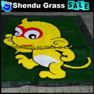 SBR Latex Backing Carton Artificial Grass Carpet with Multicolor pictures & photos