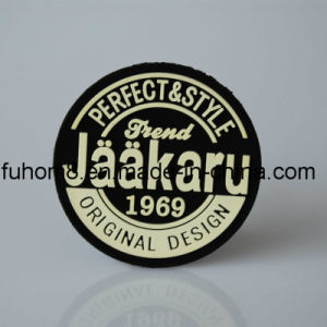 Custom 3D Silicone Logo Garment Leather Patch pictures & photos