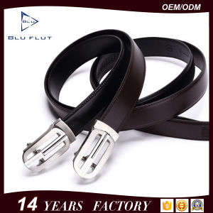 Reversible Strap Steel Metal Buckle Leather Men Belts pictures & photos