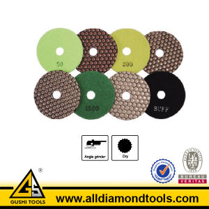 125mm Dry Use Resin Polishing Pad for Granite and Marble pictures & photos
