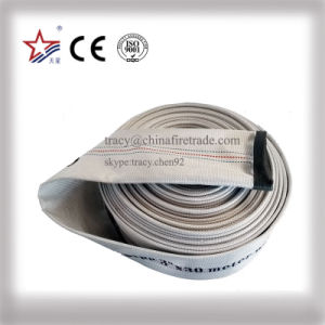 PVC Canavas Water Discharge Fire Hose Pipe pictures & photos