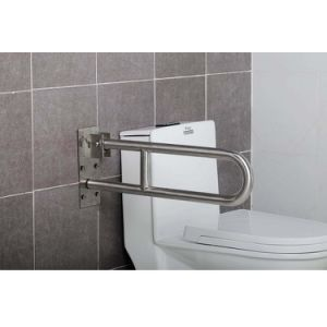 304 Stainless Steel Toilet Folding up Grab Bars pictures & photos