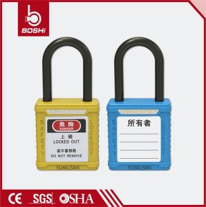 Colorful Safety Padlock 38mm Nylon Shackle Padlock Bd-G11 pictures & photos