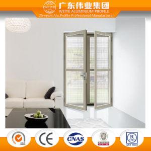 Two Tracks Four Panel Glass Aluminum/Aluminium/Aluminio Iding Door with Mesh pictures & photos