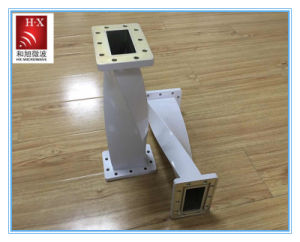 2.60-3.95GHz Rectangular Twist Waveguide From Hexu Microwave pictures & photos