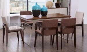 Europe Design Furniture Dining Table with Steel Leg (NK-DTB083)