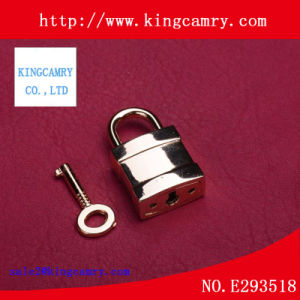Suitcase Fashion Lock Twist Lock Lady Bag Alloy Padlock with Key pictures & photos