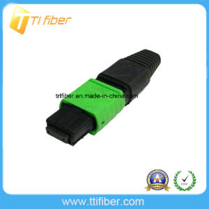 MPO APC Singlemode 12 Core Fiber Optic Connector pictures & photos