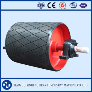 Grooved Rubber Surface Conveyor Pulley pictures & photos