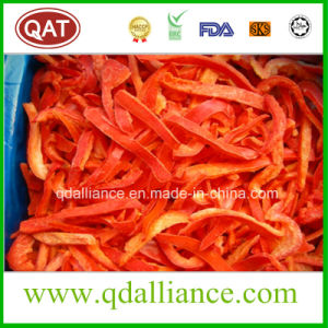 IQF Frozen Red Pepper Strips with FDA Standards pictures & photos
