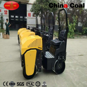 2017 New 1.3 Tons Driving Type gasoline Road Roller pictures & photos