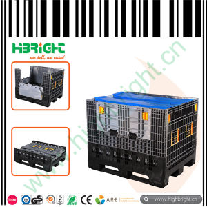 Plastic Collapsible Logistic Pallet Container with Lids pictures & photos