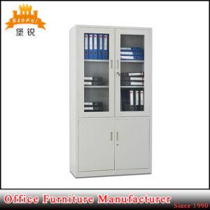 Galss Door Modern File Book Cabinet/Sliding Door Steel Book Cabinet pictures & photos
