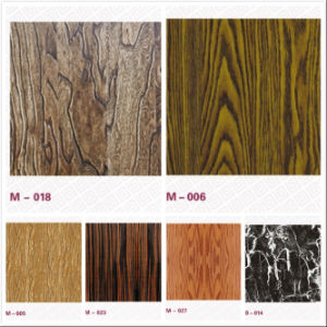 New Product Emboss Wooden Pattern Decorate Table Stainless Sheet pictures & photos