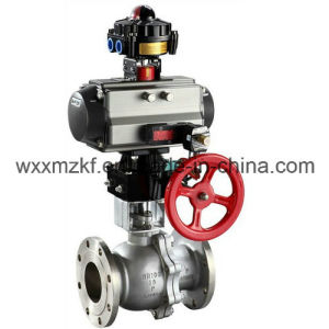 Flange Type Water Pneumatic Actuator Valve pictures & photos