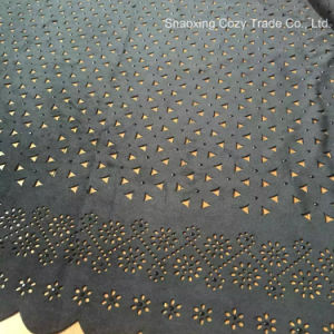 Hot Fashion Summer Garment Suede Laser Embroidery Fabric pictures & photos