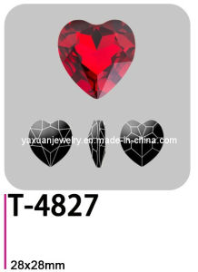 Crystal Elements Lead Free Fancy Loose Pointback Seed Heart Jewelry Making Garment Accessory Parts Ornament Stone Bead (T-4827)