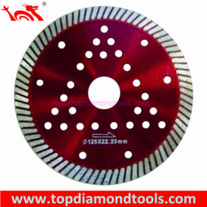 Turbo Diamond Cutting Blade with Cooling Holes for Cutting Hard Granite pictures & photos