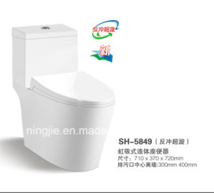 One Piece Water Closet Toilet/ Siphonic Toilets (NJ-5849) pictures & photos