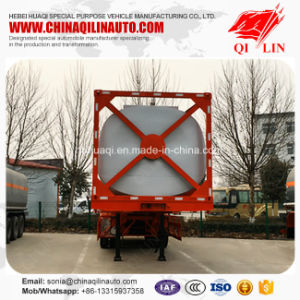 Hot Sale Stainless Steel 40 Feet Container Tanker Semi Trailer pictures & photos