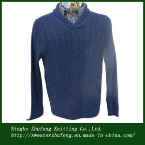 Men′s Shawl Neck Fashion Sweater Nbzf0004