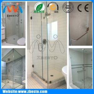 600mm 900mm Custom Frameless Bath Shower Room Screen Glass Door