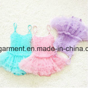 Girl′s Lace Pleated Skirt Swimming Suit, Lace Lovely Swimming Wear pictures & photos