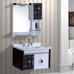 Painting PVC Bathroom Cabinet with Wash Basins pictures & photos