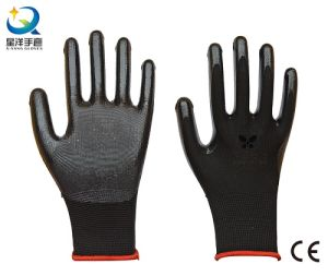 13G Nitrile Polyester Nitrile Coated, Protective Safety Work Gloves (N6002) pictures & photos