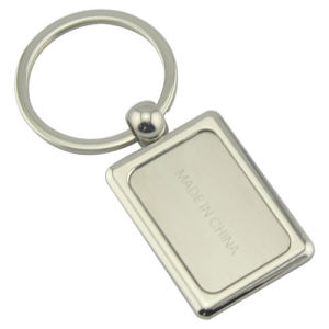 Promotion Zinc Alloy Rectangle Keychain with Custom Logo (F1095) pictures & photos