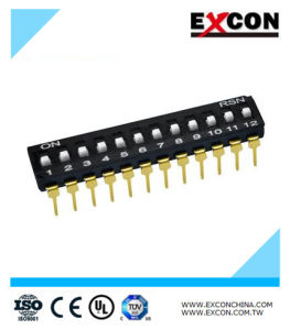 China Manufacturer Excon Ri-12 Electronics DIP Type Switch pictures & photos