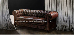 Classic Chesterfield Leather Sofa for Living Room (RF-5002) pictures & photos