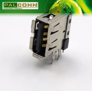 USB 2.0 Connector Type a Upright, Flange-out, R/a, Th Type. Standard of Housing Color: Black, White. We Support Customer Specify The Color of The Production pictures & photos