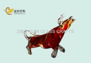 Zibo Boshan Handmade 40 Cm Glass Bulls