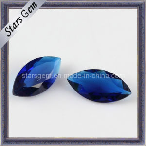 Factory Price Blue Marquise Shape Glass pictures & photos