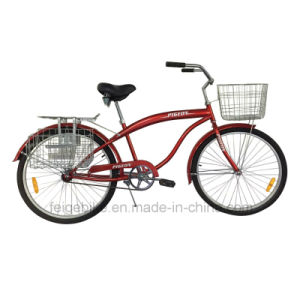 "with Front and Rear Basket 26"" Beach Bicycle (FP-BCB-C051) pictures & photos"