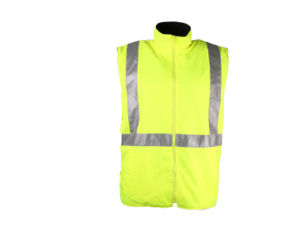 Custom Hi-Vis Yellow Mens Waterproof Reflective Safety Warm Qualited Vest pictures & photos