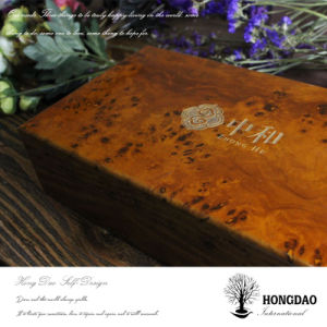 Hongdao Wooden Box, Custom Made Tea Box with Engraved Logo pictures & photos