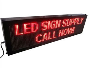 P10mm Red Color High Brightness Advertising Semi-Outdoor LED Sign pictures & photos