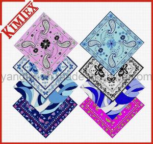 Unisex Fashion 100% Cotton Square Promotion Bandana pictures & photos