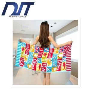 High Quality Increased Microfiber Soft Printing Active Bath Towel