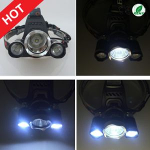 Hottest Style CREE 3xt6 Rechargeable LED Headlamp with Charger and 18650 Batteries pictures & photos