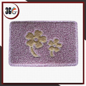 Double Mix Fresh Color Net Backing Flower Design Door Mat pictures & photos