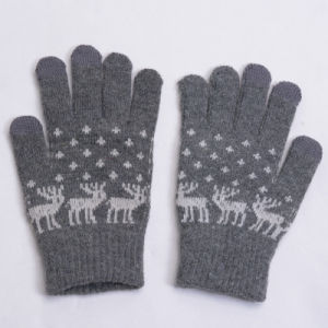 2015 Hot Sell Jacquard Wool Touch Screen Gloves pictures & photos