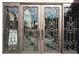 Cheap Price Metal Wrought Iron Door Glass pictures & photos